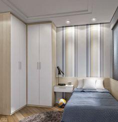27 Small Bedroom Ideas Design Minimalist and Simple - Pandriva Small Rooms, Small Spaces, Kids Bedroom, Bedroom Decor, Bedroom Ideas, Corner Wardrobe, Bedroom False Ceiling Design, Luxury Bedroom Furniture, Wardrobe Design Bedroom