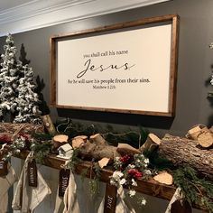 You Shall Call His Name Jesus Xmas Ideas, Holiday Ideas, Up Quotes, Custom Wood Signs, Christmas Stuff, Gift Tags, House Ideas, Names, Hand Painted