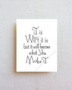 Es ist was es ist  Schwarzweiß Kunstdruck von SimpleSerene auf Etsy