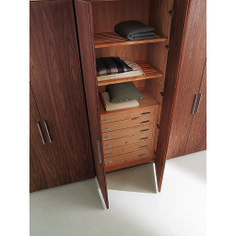 Entirely customizable wardrobe storage system, ideal for residential and hospitality installations. www.mondocollection.com - Four Seasons Wardrobe System, Call for Pricing (http://www.mondocollection.com/four-seasons-wardrobe-system/)
