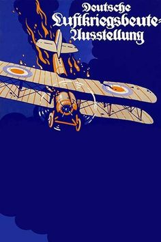 German War Poster of burning British Plane