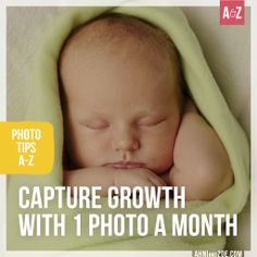 We love these 10 creative ways to capture monthly baby photos - the perfect way to fill up one of these adorable mini albums - http://www.ahniandzoe.com/publicstore/stores/susan/CDS/catalog/Fast2Fab-Mini-Albums,229.aspx