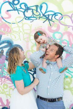 Portrero Hill Graffiti Wall Family Session in San Francisco | Cristin More Photography