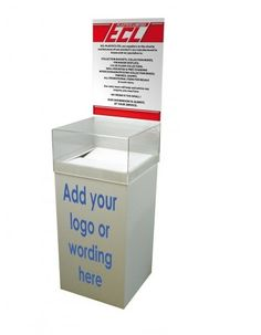 Donation Box (With Header)  sc 1 st  Pinterest & Clear Acrylic Donation Box Fund-raising Box Charity Box Collection ... Aboutintivar.Com