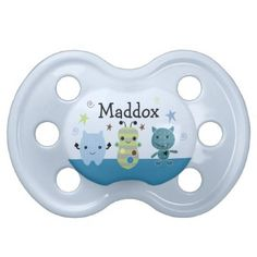 """Personalized """"Peek a Boo Monsters"""" Pacifier Cute"""