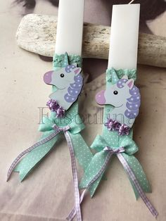 Candels, Easter Crafts, Christening, Unicorn, Christmas Ornaments, Holiday Decor, Diy, Bricolage, Christmas Jewelry