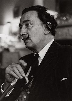 Credit: Lewis Morley Archive Salvador Dali, in London, 1959. Dali was in London at the invitation of his biographer, Fleur Cowles, the editor of Look and Quick magazines. Cowles had summoned Morley from a throng of photographers at Victoria station in London for a private session, and Morley snapped this image after Dali thought the session was finished.