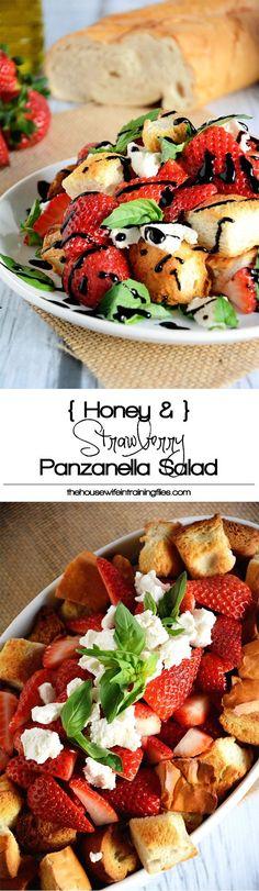 Panzanella Salad, Recipe, Healthy, Spring, Balsamic, Easy, Summer, Cheese, Gluten Free, Basil, Fruit, Strawberry
