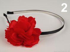 Bižuterie | Čelenka kovová s květem Ø 50mm