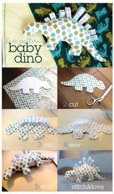 51 Things to Sew for Baby - Baby Dino Pattern - Cool Gifts For Baby, Easy Things To Sew And Sell, Quick Things To Sew For Baby, Easy Baby Sewing Projects For Beginners, Baby Items To Sew And Sell http://diyjoy.com/sewing-projects-for-baby