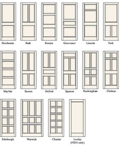 A collection of different styles of paneled doors | Via Design Stamped