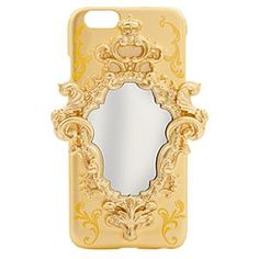 [Magic Mirror]See far beyond the horizon with your iPhone 6 securely clipped into this mirrored case with sculptured golden filigree frame inspired by Disney's live action film <i>Beauty and the Beast</i>.