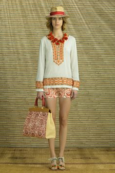 Tory Burch Resort 2014 Collection Slideshow on Style.com