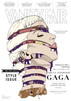 "Kris513: ""LOVE. That is all."" Vanity Fair cover by Priya Chauhan, via Behance"