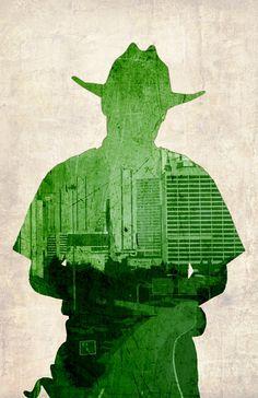 Walking Dead 3 Pack - Rick, Daryl and Michonne - Original Art Poster Prints - 13x19, Art Gallery :: Prints :: MoreThanHorror.com