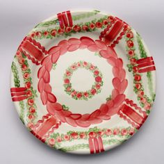 ursula Ursula, Plates, Tableware, Red, Green, Tablewares, Licence Plates, Dishes, Dinnerware