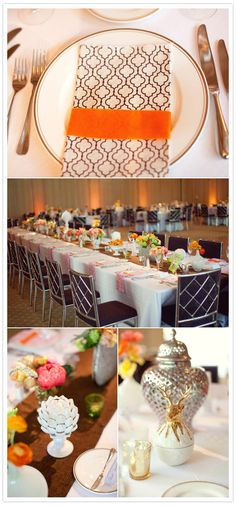 Parker Palm Springs wedding we designed with punchy colors! Designed by Canvas & Canopy Events.. www.canvasandcanopy.com; Flowers by JL Designs; Photography: Sarah Yates