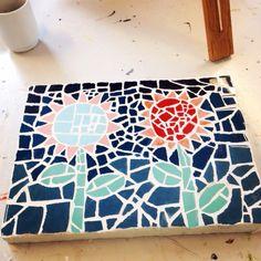 Mosaic flowers.