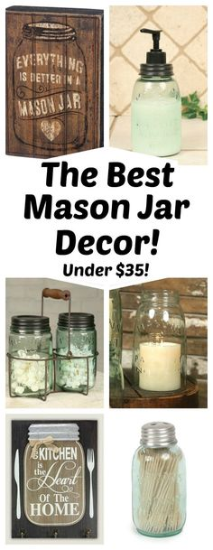 Tons of Mason Jar Home Decor Perfect for your Home!