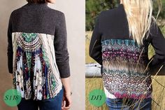 DIY Pleated Fabric-Back Sweater | eHow