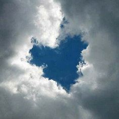 A beautiful sky blue Heart surrounded by white fluffy clouds. Fluffy white clouds are my favorite! Heart In Nature, All Nature, I Love Heart, My Heart, My Love, Heart Pics, Humble Heart, Heart Pictures, Heart Broken