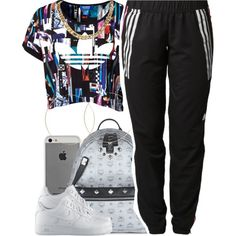 A fashion look from July 2014 featuring adidas Originals t-shirts, adidas and NIKE shoes. Browse and shop related looks.