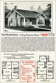 Vintage aladdin homes company floor plans mail order for Marshfield homes floor plans