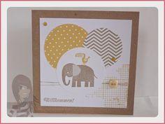 Stampin' Up! - Babykarte - Zoo Babies - Off the Grid - Eins für alles - www.rosamaedchen.blogspot.de