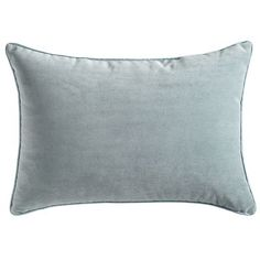Pier 1 -Lindon Lumbar Pillow - Smoke Blue - perfect tie in with the throws to pull out the light blue in the dining room painting.