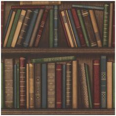 Beacon House Atheneum Burgundy Antique Books Wallpaper, Brown ($70) ❤ liked on Polyvore featuring home, home decor, wallpaper, books, backgrounds, decor, brown, burgundy wallpaper, antique wallpaper and vinyl wallpaper