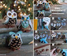 Creative Ideas - DIY Felt and Pinecone Owl Ornaments   iCreativeIdeas.com Follow Us on Facebook --> https://www.facebook.com/iCreativeIdeas