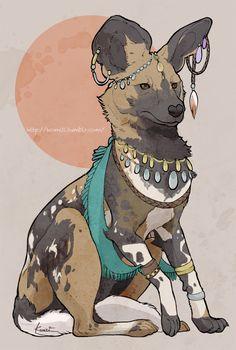 HAKOBUNE : marbled polecat, African wild dog, Harpy eagle,...