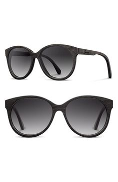 bdaaf3036a Shwood  Madison  54mm Round Polarized Wood Sunglasses available at   Nordstrom Round Lens Sunglasses