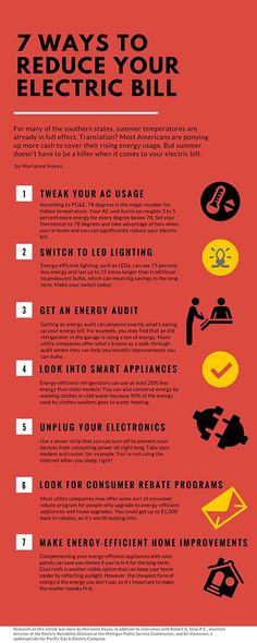 7 Ways to Reduce Your Electric Bill. Try these steps and you could save a lot of money on your utility bills.
