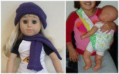Various doll tutorials: Dresses, bedding, accessories.