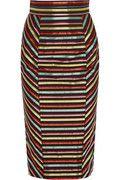 L'WREN SCOTT Striped canvas and silk pencil skirt | Net-A-Porter $1,350
