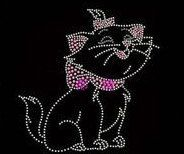 Kitty Adorable Cute Rhinestone Motif Design Tshirt Kitty