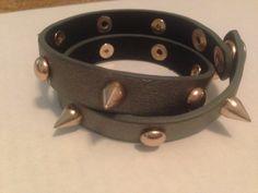 Leather studded wrap bracelet Available on-line at lisa erbacher.com
