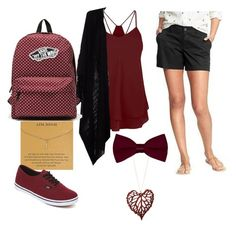 """Random Fall Look"" by carabay-sam ❤ liked on Polyvore featuring Old Navy, Dogeared and Vans"