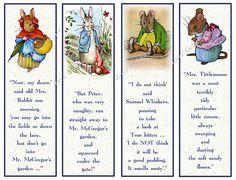 Favoritos de los niños para imprimir: Personajes de Beatrix Potter, Original Art, favores de partido, de descarga inmediata Gracias por visitar mi tienda. Todas las ilustraciones aquí son mi obra original, a mano alzada. Hoja con cuatro marcadores, cada uno con una de mis
