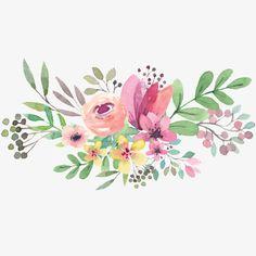 Flower Circle, Flower Frame, Flower Art, Art Flowers, Flowers Garden, Spring Flowers, Watercolor Flower Vector, Watercolour Painting, Watercolor Images