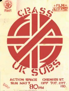 Crass and the U.K. Subs | 35 Old Punk Flyers That Prove Punk Used To Be So Cool