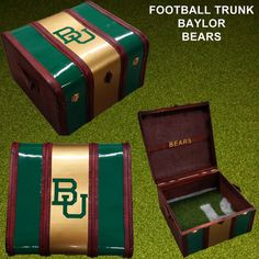 Baylor Bears themed leather trunk. This would be great for keeping all your Baylor memorabilia!