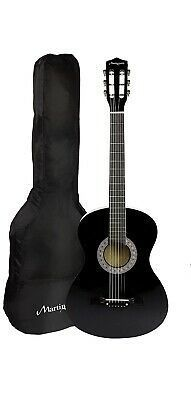 Martin Smith 38 Inch Acoustic Guitar Black With Case Guitar Acoustic Acoustic Guitar