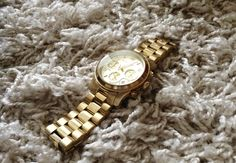 Fashion Tipsy: Golden Michael Kors watch, favourite accessory