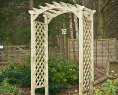 Elite Omega Top - Made of the best quality timber and finished at a high standard, this arch can be easily placed into any garden and suits even the most challenging requirements. Wooden Garden Furniture, Wooden Arbor, Garden Arches, Garden Fencing, Pergola, Arbour, Outdoor Structures, Wakefield, Fences