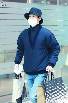 180208 #Suho #Exo at Incheon Airport (ICN) heading to Taiwan Taoyuan International Airport (TPE) for Elyxion in Taipei on 10th and 11th February .