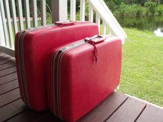 Samsonite with KEY Rose / Pink Luggage Set 2 Suitcase by KTsAttic, $45.00