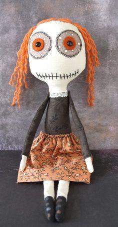 Handmade Art Doll, Cute and Strange Plush - Lola by VagabondCafe on Etsy
