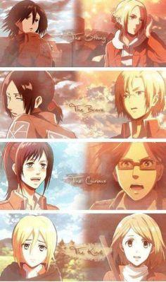Shingeki no Kyojin Attack on Titan girls